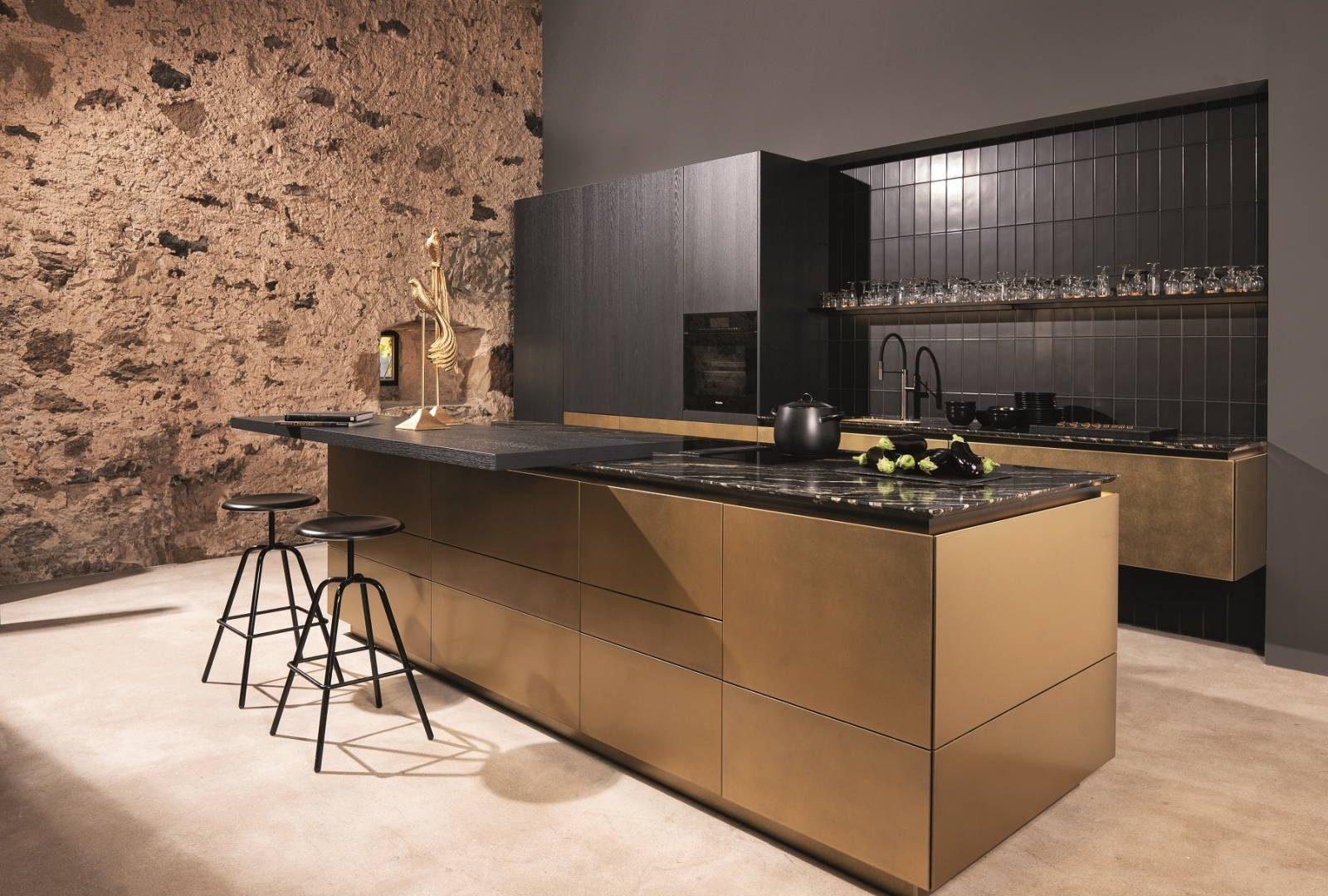 WARENDORF Küche Goldfronten - Küchentrends 2021