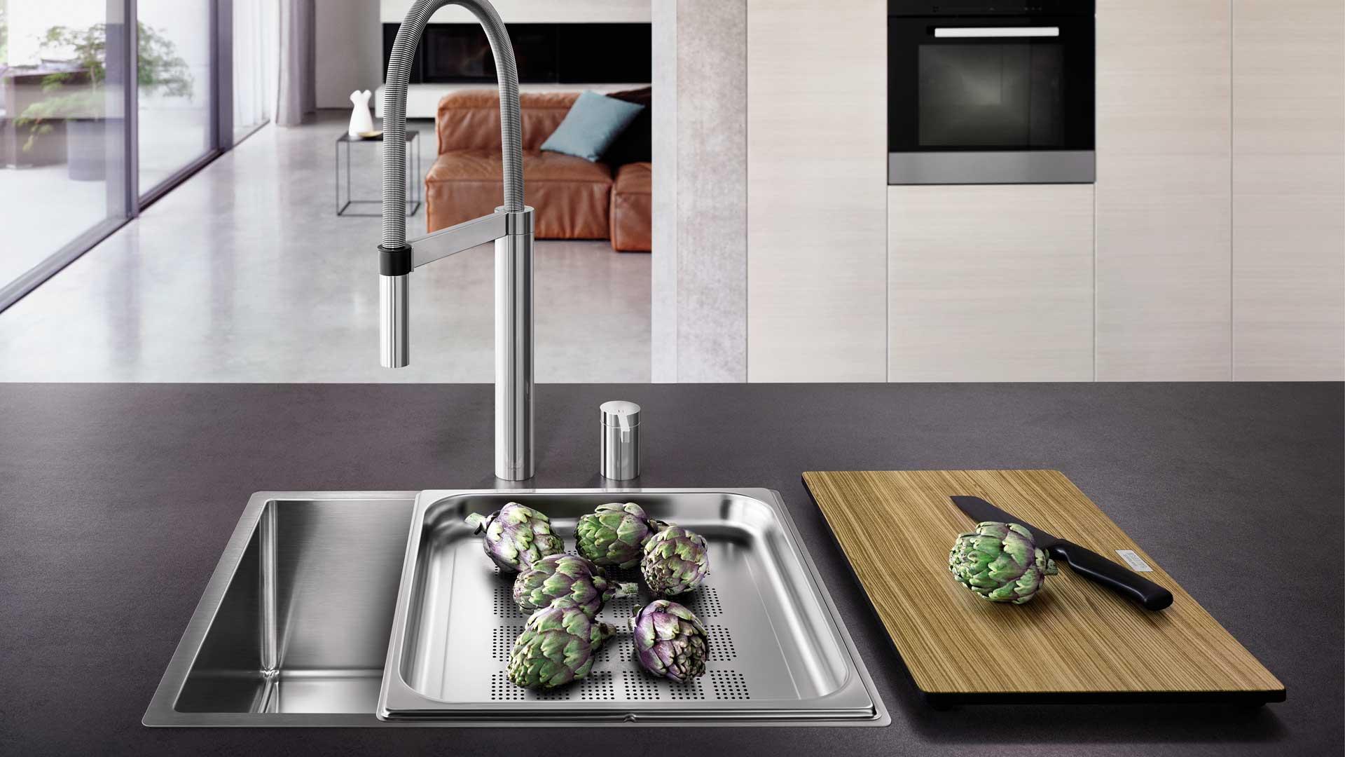 Dampfgarerspüle von Blanco im Küchenstudio in Österreich