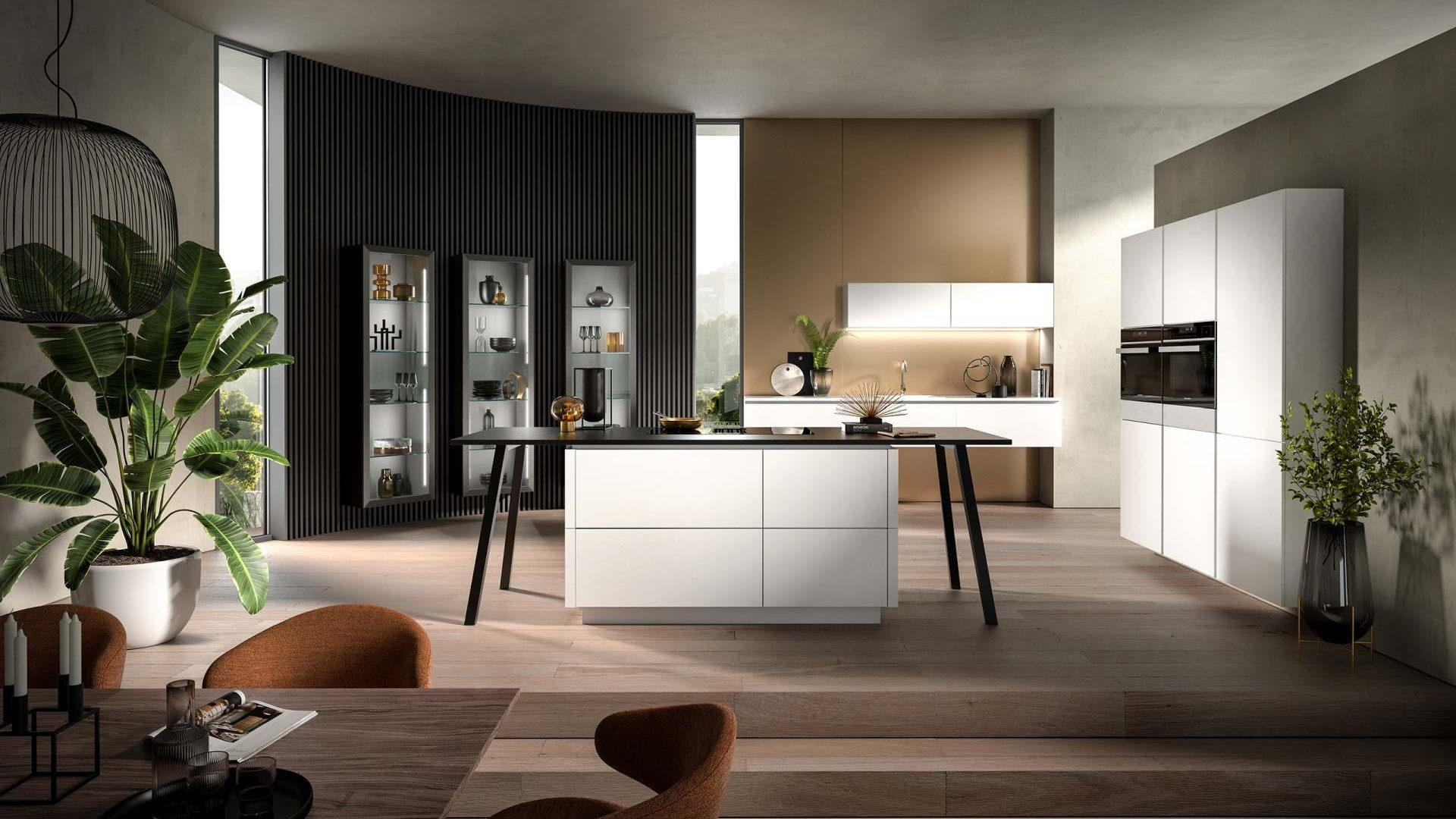 Kristallweiße Häcker Design Küche - Küchentrends 2021