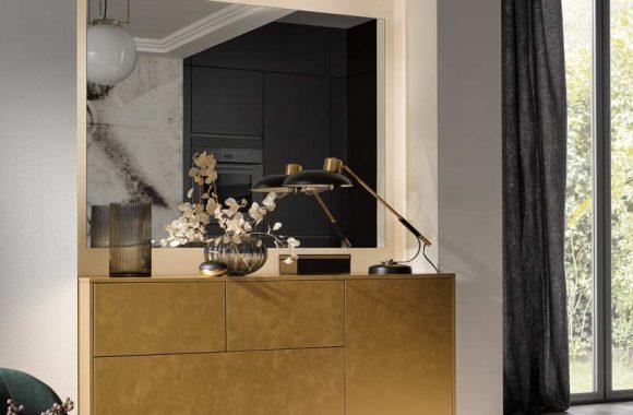 Küchentrends 2020 Häcker Antharazit und Goldlack im Miele Center
