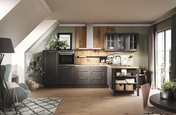 Küchentrends 2021 Malaga-Graphit Landhausküche von Häcker