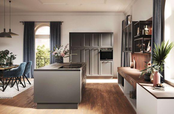 Küchentrends 2021 Häcker Küche in Malaga-Graphit Design