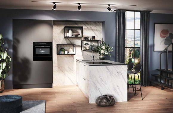 Küchentrends 2021 Merkur Carrara Küche von Häcker
