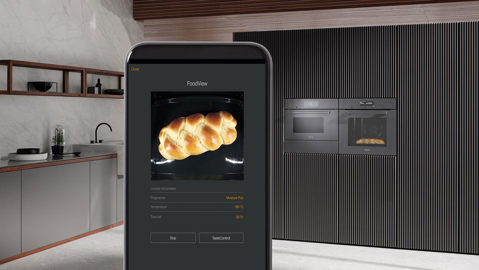Kochen mit Kamerassistent - Smart Home von Miele