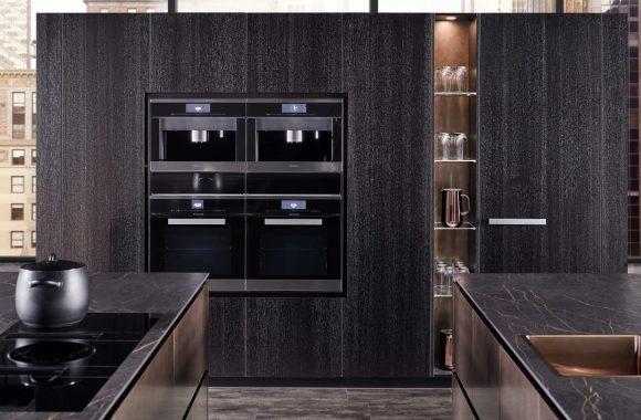 Küchentrends 2021 Warendorf Stahl Kupfer Küche mit Miele Backrohr