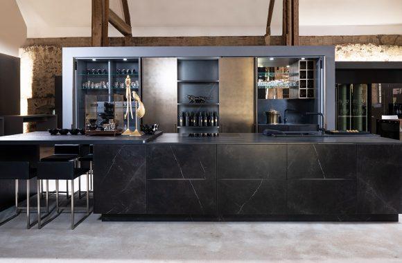 Warendorf Design Küchen - Stein Keramik Schwarz