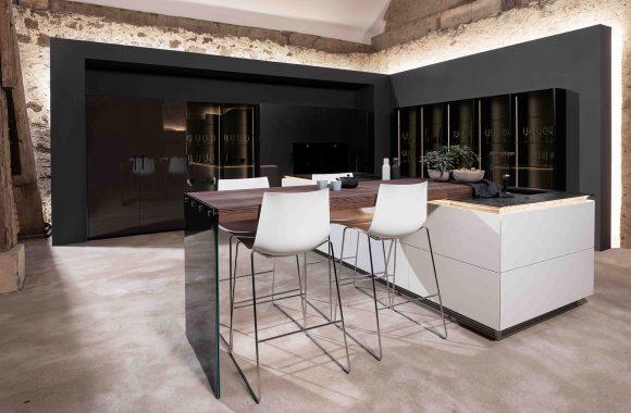 Warendorf Edle Designküche - Weiß Glattlack | Eiche